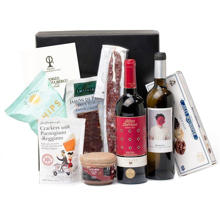 Pack con Vinos, Ibéricos y Picoteo Gourmet Variado, 1 ud