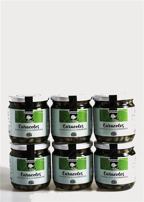 Pack Conserva artesanal caracoles en caldo de Hierbabuena