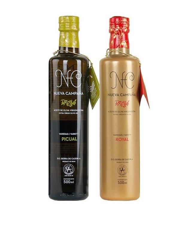 Pack de 6 Botellas de 500 ml Nueva Campaña Picual + 6 Botellas de cristal 500 ml Nueva Campaña Royal, 1 ud