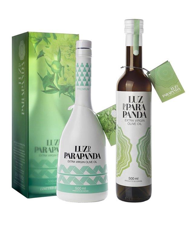 Pack de 6 Botellas de cristal de 500 ml Luz de Parapanda Coupage + 2 Botellas de cristal de 500 ml Luz de Parapanda Selección