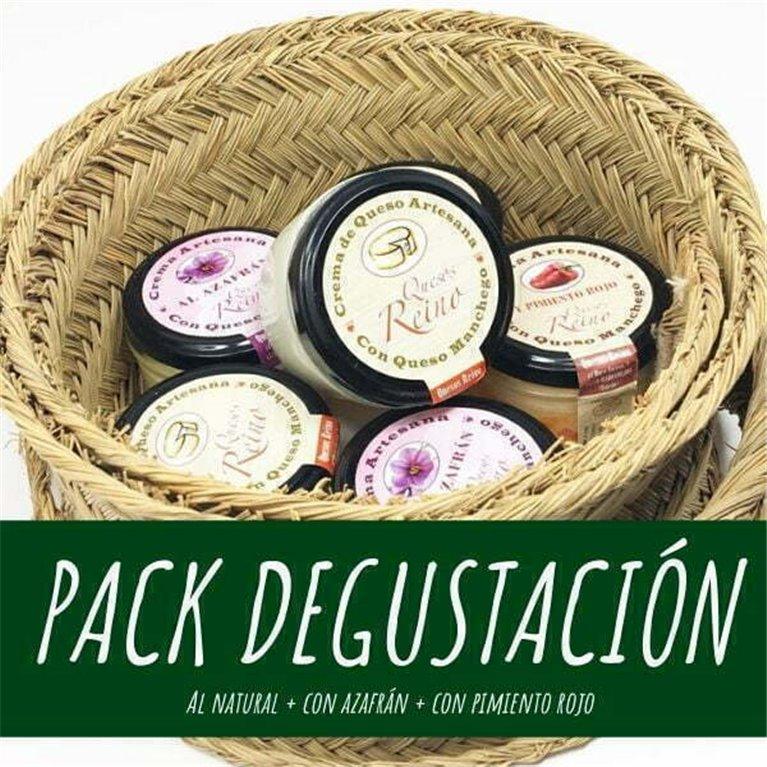 """Pack degustación """"3 cremas de queso manchego"""""""
