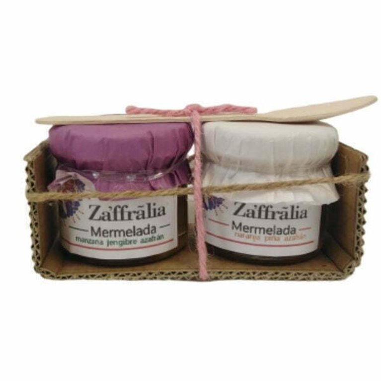 Pack degustación mermeladas con azafrán 80gr - Zaffralia