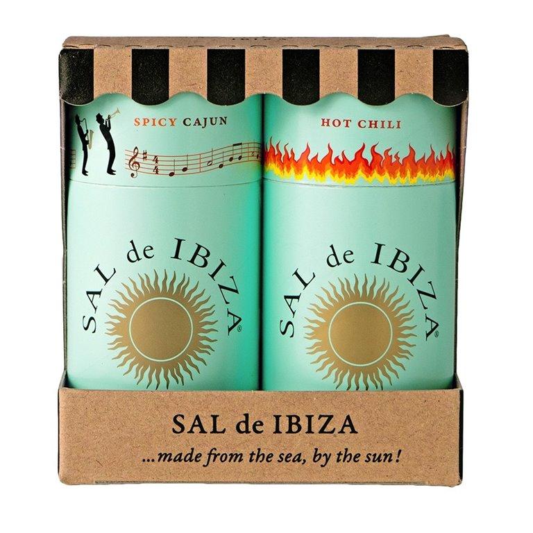 Pack Granito Spicy Cajun & Chili 150gr. Sal de Ibiza. 5un., 1 ud