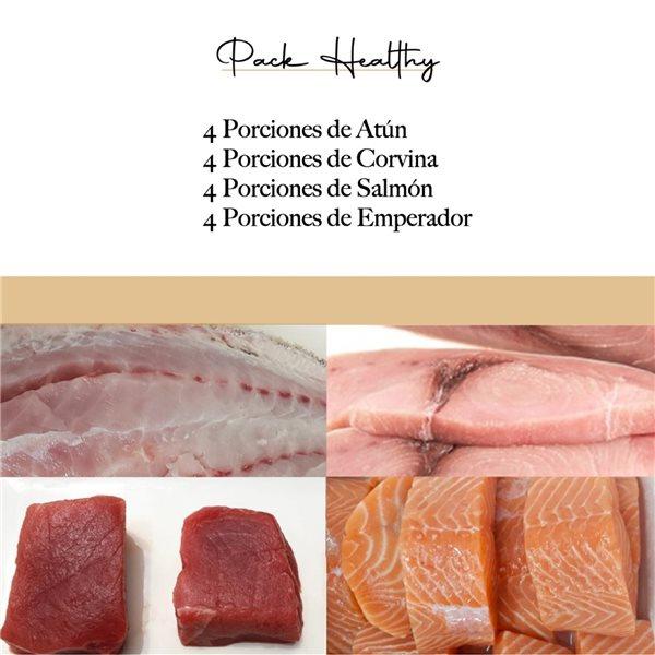 PACK HEALTHY 2 (Ref. 120251 - 4 P. atún 120105, 4 P. corvina 120103, 4 P. salmón 120102, 4 P. emperador 120106)