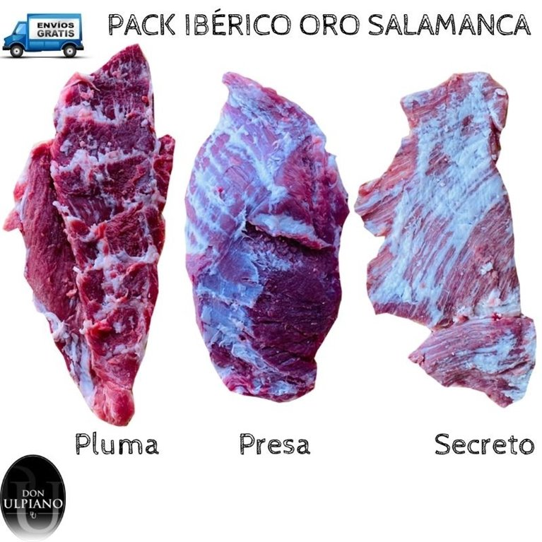 Pack Ibérico Oro Presa Secreto y Pluma frescos Salamanca