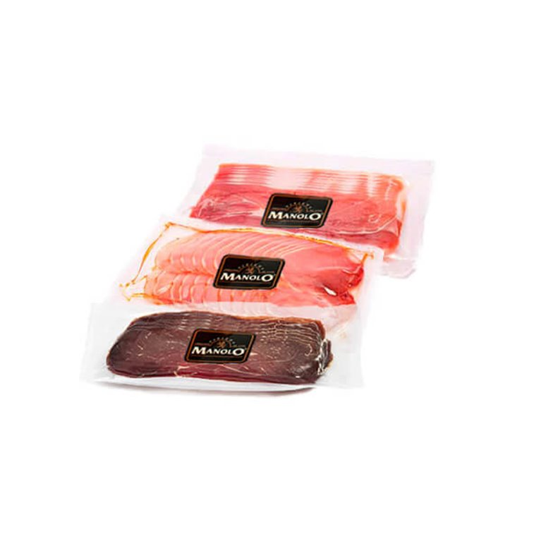 Pack of loin, cured ham and ham loins