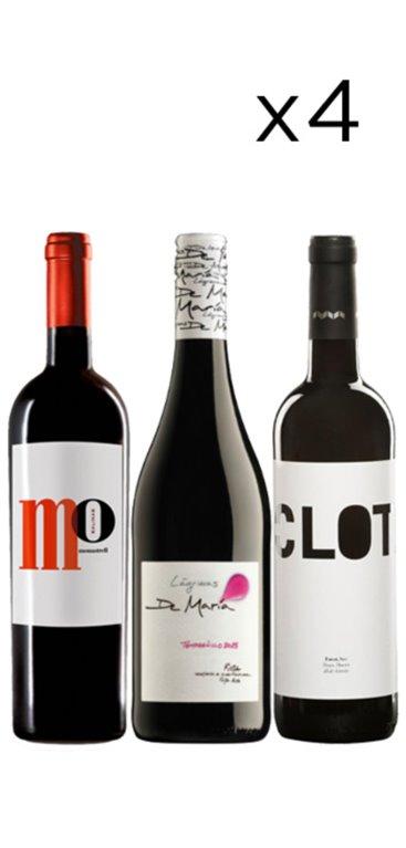 Pack Mejores Vinos de España Calidad - Precio (12 Botellas), 1 ud