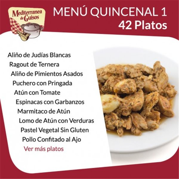 Pack Menú Quincenal 1 + 2