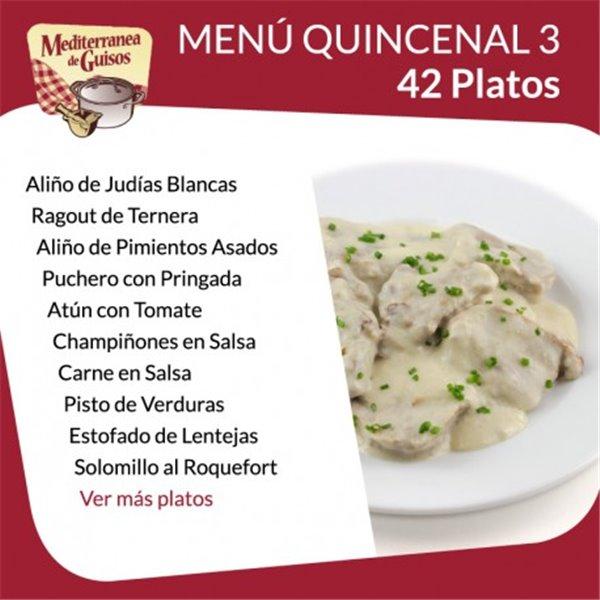 Pack Menú Quincenal 1 + 4
