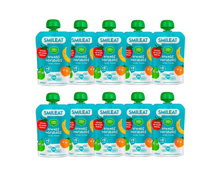 Organic Assorted Fruit Pouches Pack 10 Units.