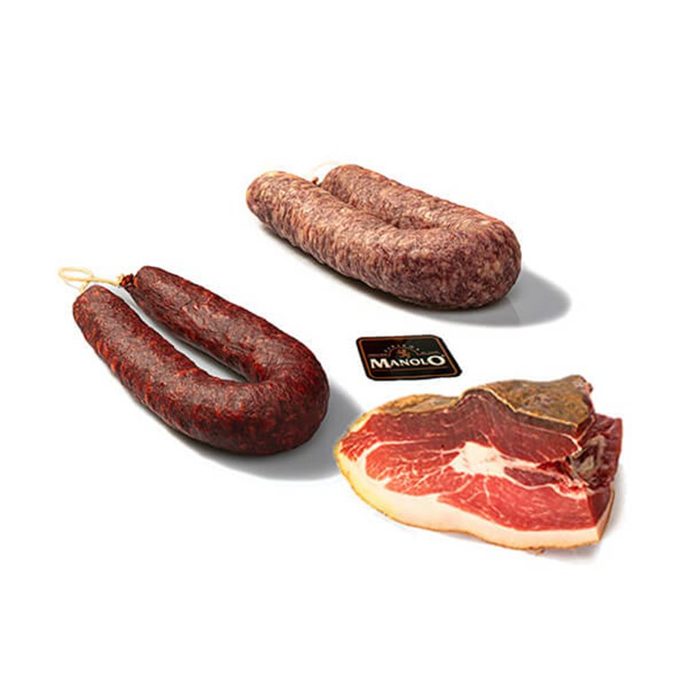 Special gift pack assortment Ham from Leon, Chorizo and Salchichón