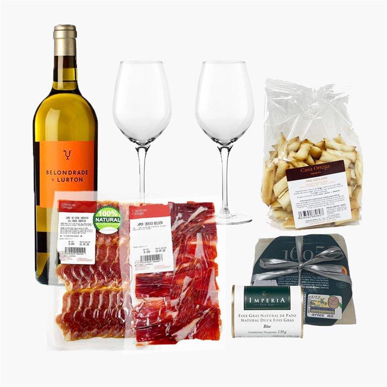 """Pack """"Salado"""" con vino Blanco"""