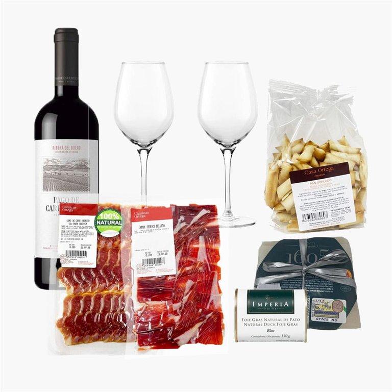 """Pack """"Salado"""" con vino Tinto"""