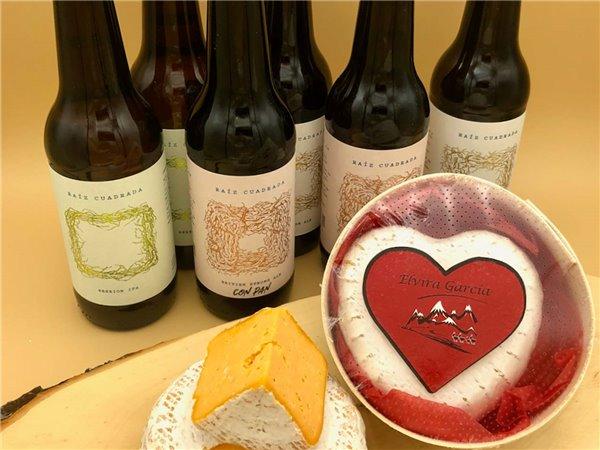 Pack San Valentín: 6 cervezas Raíz Cuadrada + Queso Corazón de Elvira García
