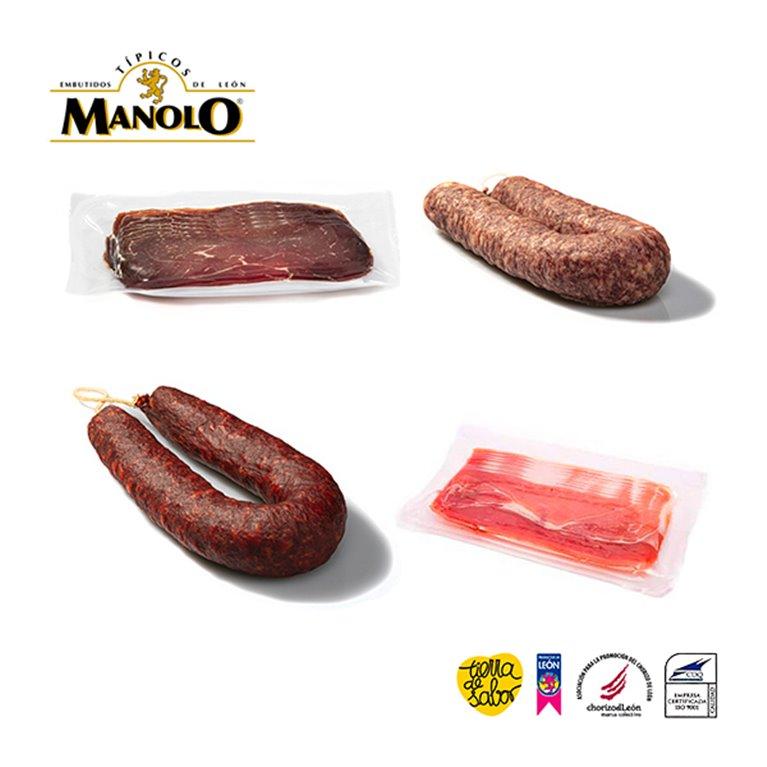 Pack surtido Jamón, Chorizo, Salchichón y Cecina de León