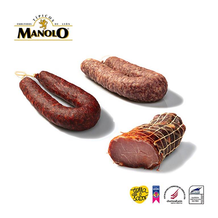 Pack surtido Lomo, Salchichón y Chorizo de León