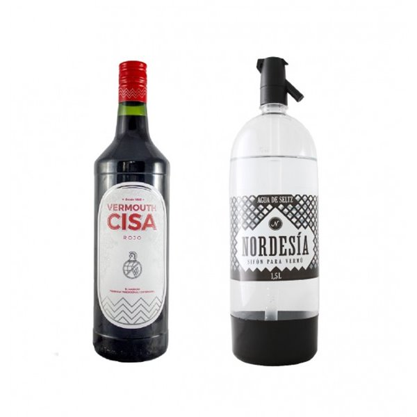 Pack Vermouth Cisa Rojo + Sifón