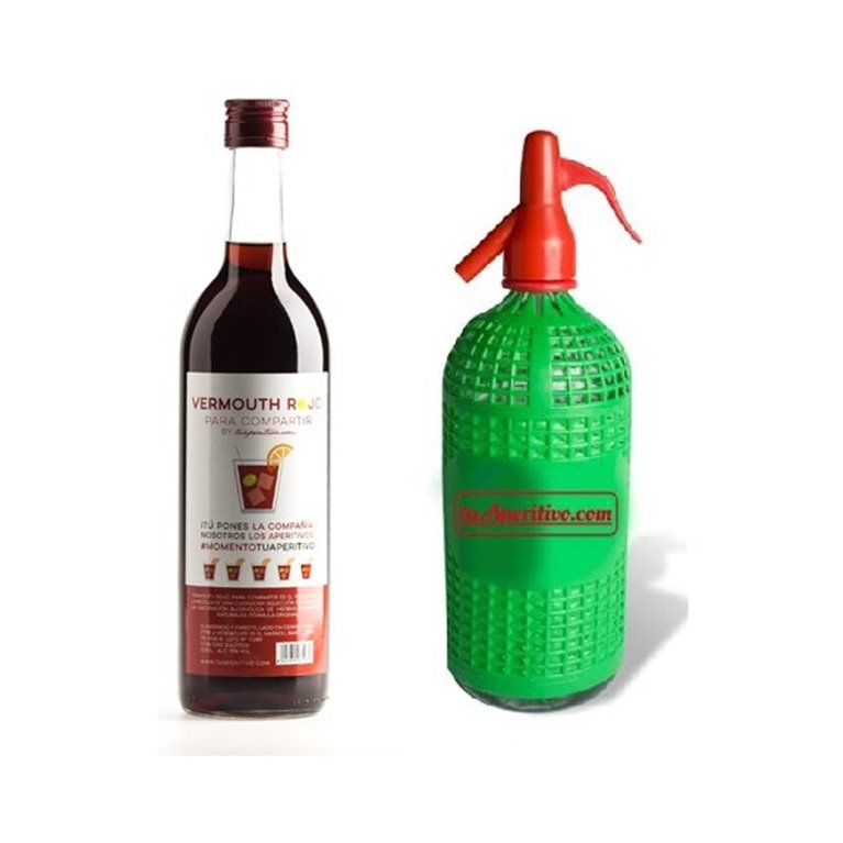 Pack Vermouth Rojo Para Compartir + Sifón Vintage, 1 ud