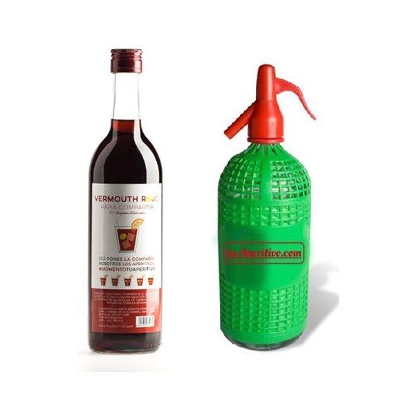 Pack Vermouth Rojo Para Compartir + Sifón Vintage