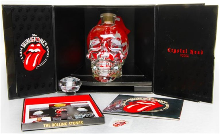 Pack Vodka Crystal Head Rolling Stones 50th Anniversary Limited Edition, 2 ud