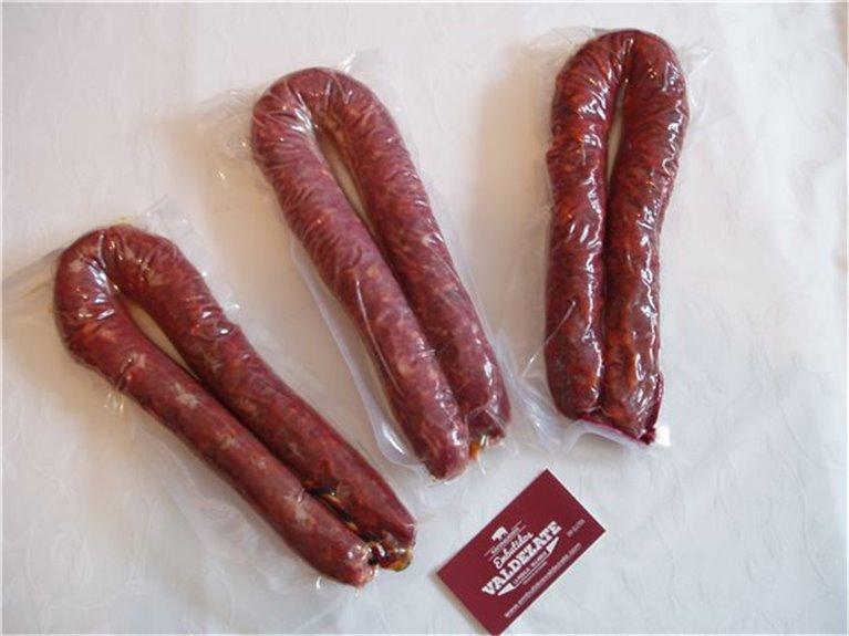 Packs de tres longanizas, 1,50 kg