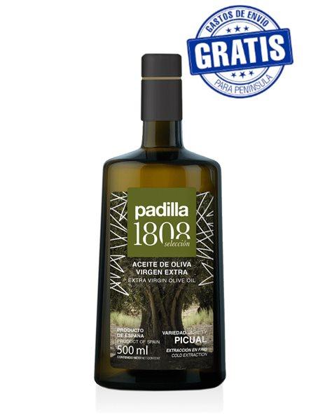 Padilla 1808 Selección. Aceite de Oliva Virgen Extra. Caja de 12 x 500 ml.