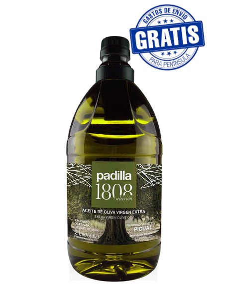 Padilla 1808 Selección. Aceite de Oliva Virgen Extra. Caja de 6 x 2 Litros.