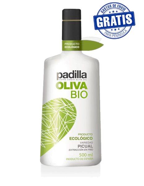 Padilla. Aceite de Oliva Virgen Extra Ecológico Bio. Caja de 12 x 500 ml.