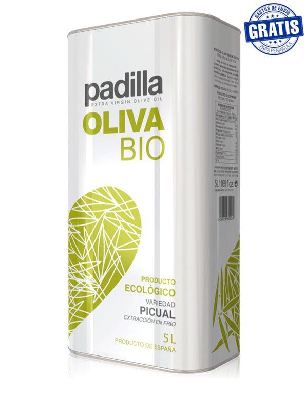 Padilla. Aceite de Oliva Virgen Extra Ecológico Bio. Caja de 2 x 5 Litros.