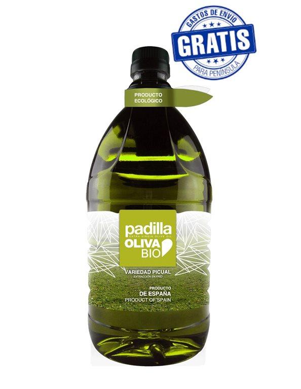 Padilla. Aceite de Oliva Virgen Extra Ecológico Bio. Caja de 6 x 2 Litros.