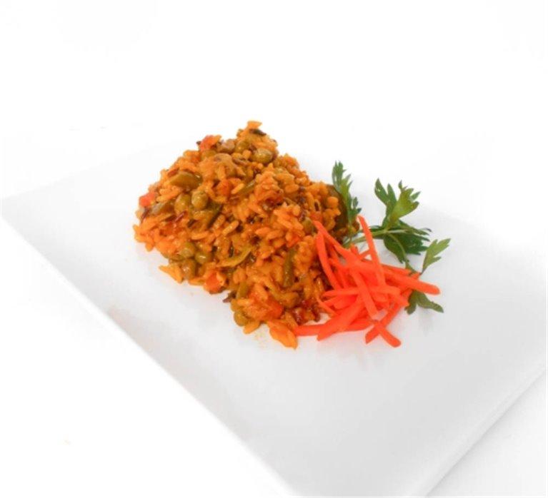 Paella integral de verduras