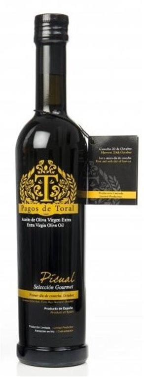 Pagos de Toral. Aceite de oliva Picual. 500 ml, 1 ud