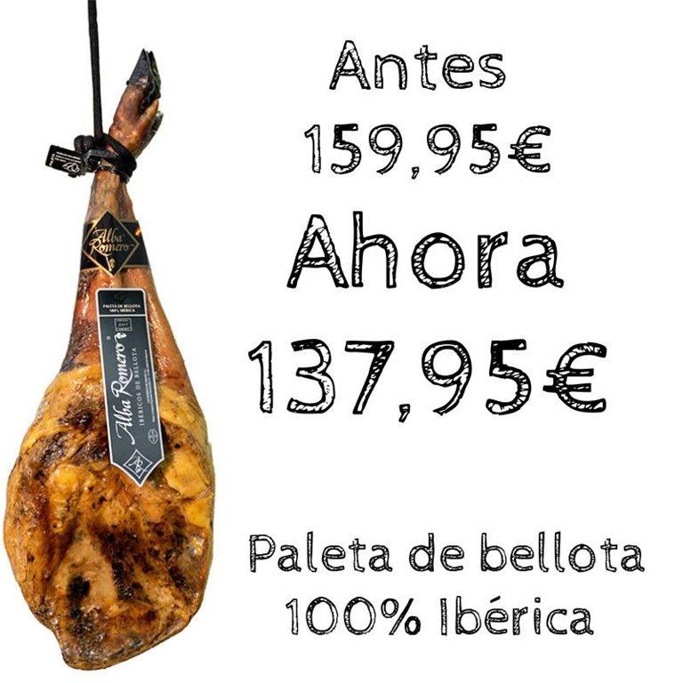 A.Romero 100% Iberian Acorn-fed Acorn-fed Ham Shoulder