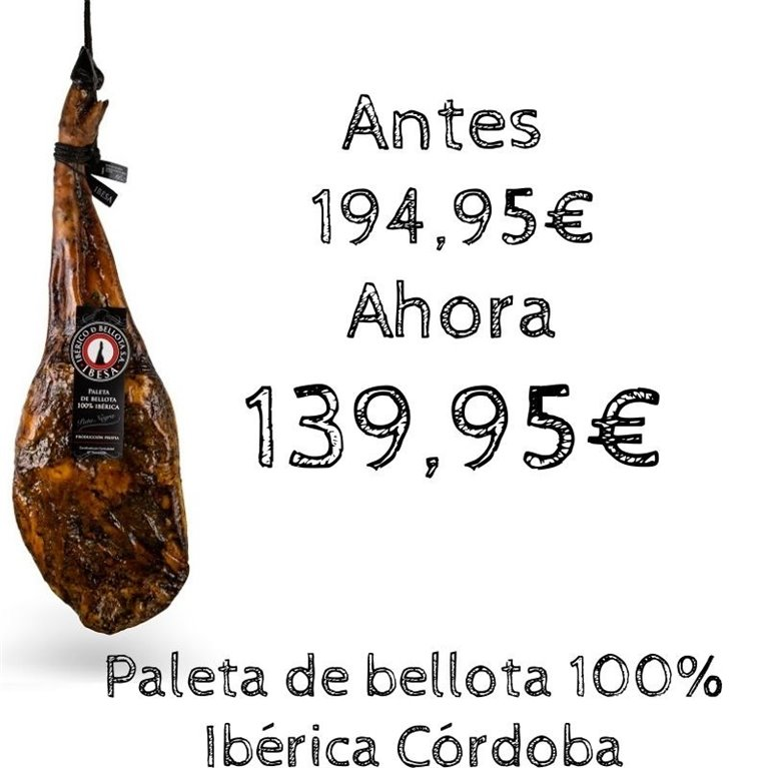 Paleta de bellota 100% Ibérica Córdoba