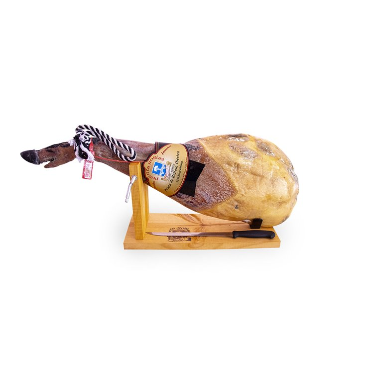 Acorn-fed Iberian Shoulder 75% Iberian breed from 5 kg to 5.5 kg + FREE ham holder and knife