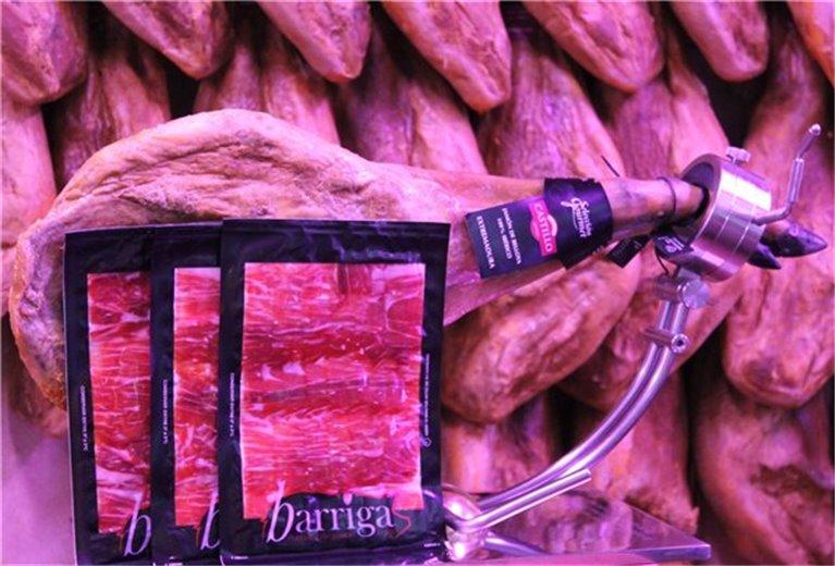 PALETA IBÉRICA 100% BELLOTA 4,8 kg cortada a cuchillo y envasada en 100 gr