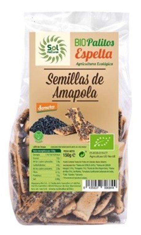 Palitos de Espelta con Semillas de Amapola Bio 150g