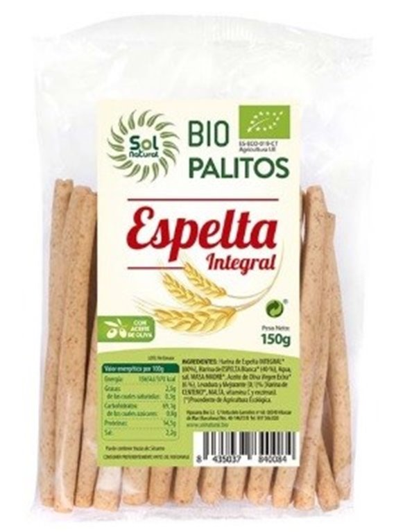 Palitos de Espelta Integral Bio 150g