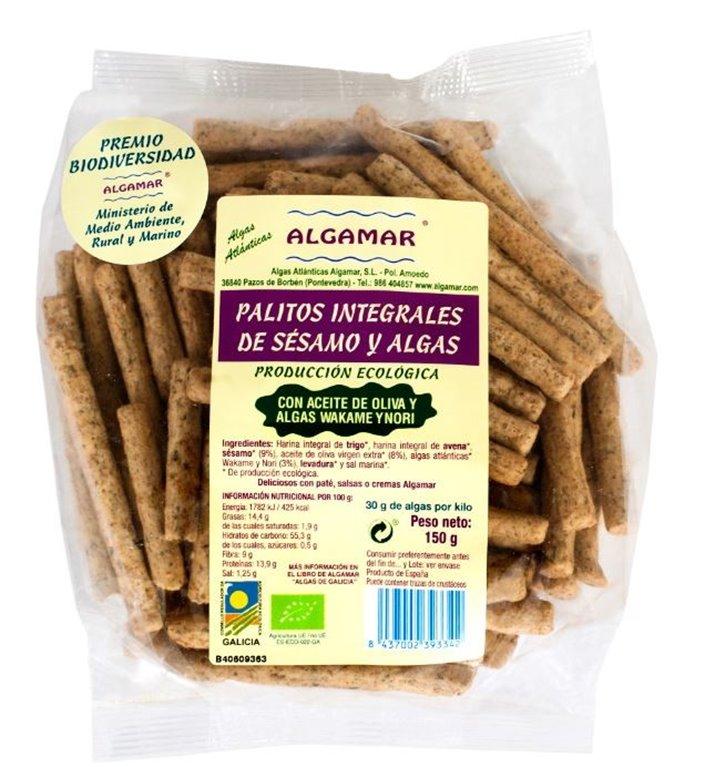 Palitos Integrales de Sésamo y Algas Bio 150g
