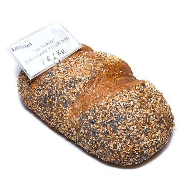 Pan alemán - masa madre y 6 cereales