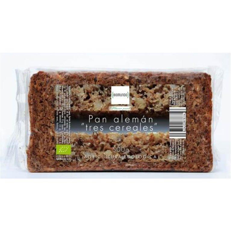 Pan alemán tres cereales, 500 gr