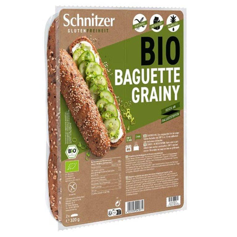 Pan Baguette con Semillas Sin Gluten Bio 360g