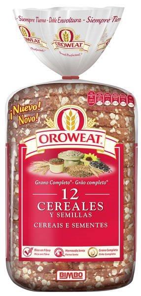 Pan Bimbo 12 cereales y semillas (grano completo)