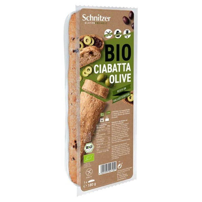 Pan Ciabatta con Aceitunas Sin Gluten Bio 360g