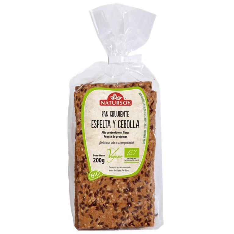 Pan Crujiente de Espelta y Cebolla Bio 200g