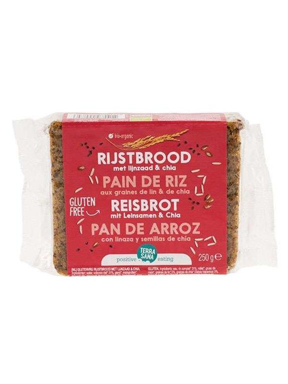 Pan De Arroz Con Chia Y Linaza S/G, 1 ud