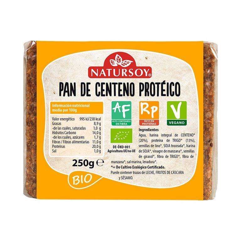 Pan de Centeno Proteico Bio 250g, 1 ud