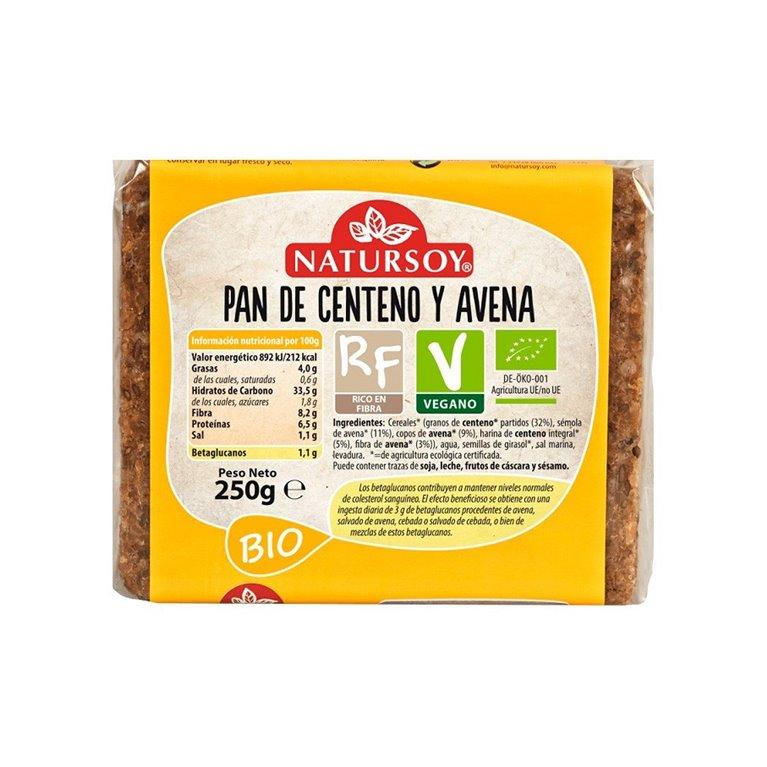 Pan de Centeno y Avena Bio 250g