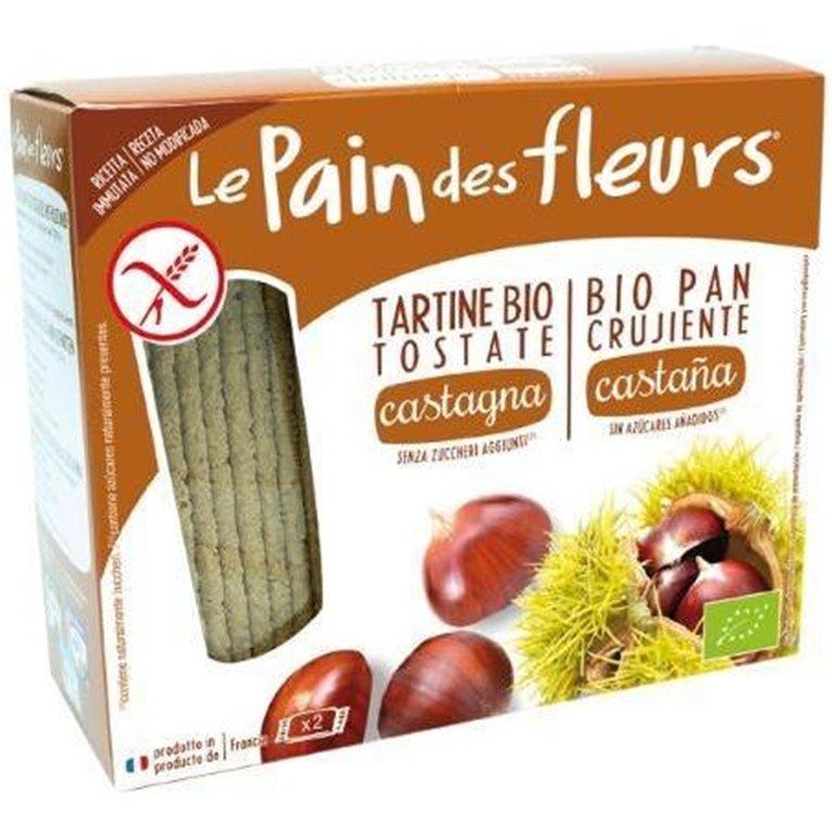 Pan de Flores con Castaña Sin Gluten Bio 150g, 1 ud