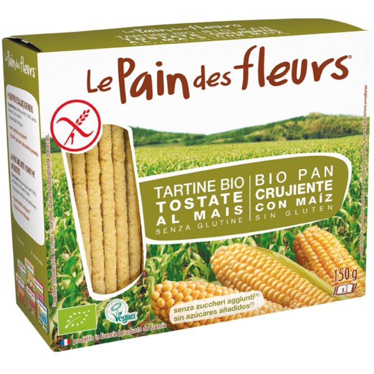 Pan de Flores con Maíz Sin Gluten Bio 150g, 1 ud